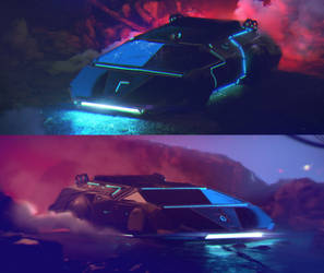 Cyberpunk Car design by stayinwonderland