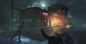 The Simpsons Zombie Apocalypse - Moe's Tavern