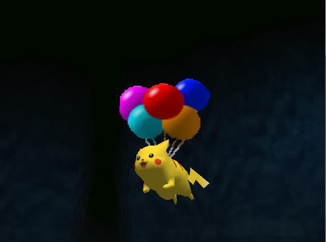 Pokemon Snap Balloon Pikachu by SusanLucarioFan16
