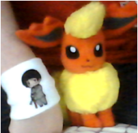 New plush: Flareon and Japan armband by SusanLucarioFan16