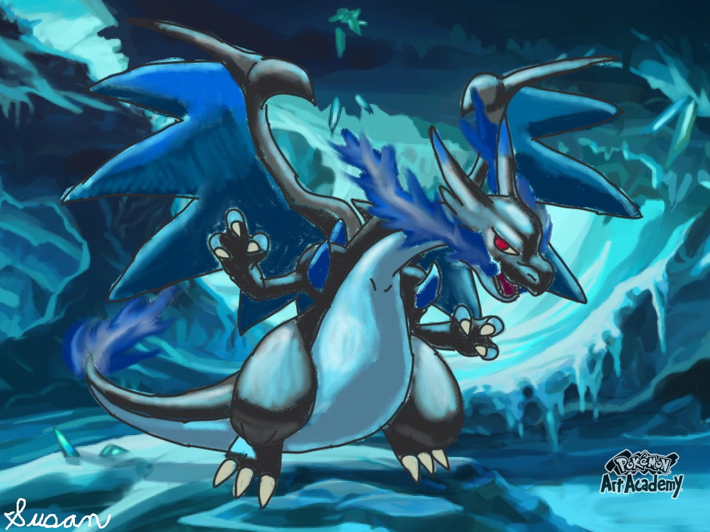 Pokemon Art Academy Mega Charizard X By Susanlucariofan16 On