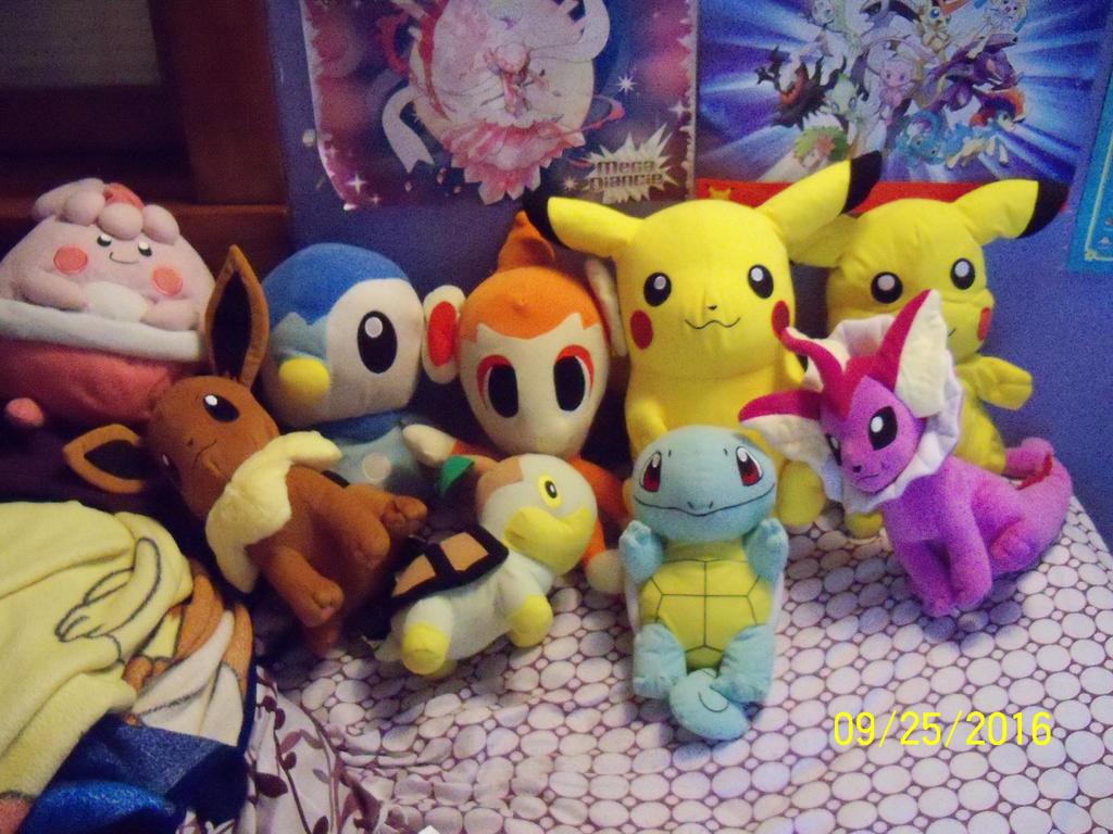 Big Pokemon Plushies so far by SusanLucarioFan16