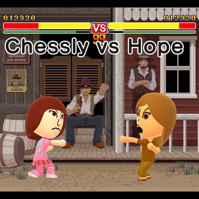 Chessly vs Hope TEC miitomo by SusanLucarioFan16