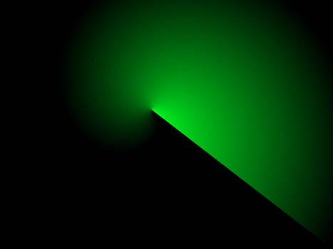 Green Swirl on Black bg