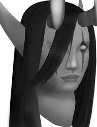 Dreadlord Jaina portrait WIP