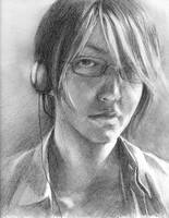 self portrait with headphones by crucian