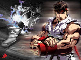 Ryu wallpaper by awsumtastick