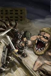 Mikasa Ackerman vs Titan mandibula