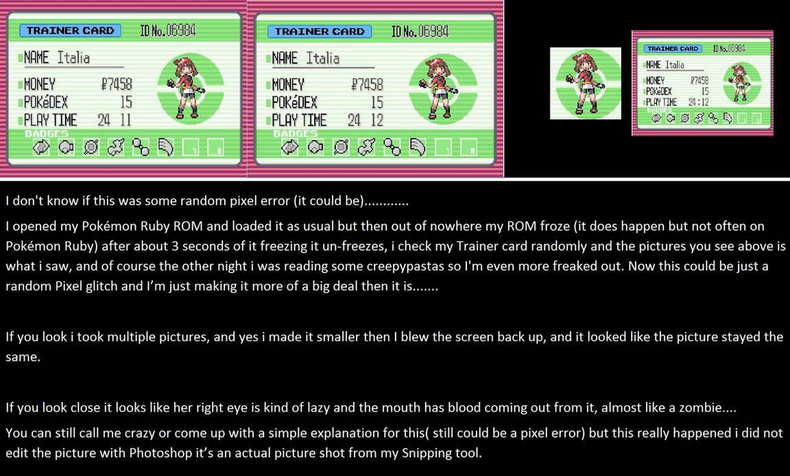 Creepypasta Pokemon Ruby by SweetKitty999 on DeviantArt