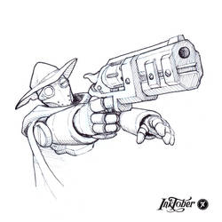 Inktober Day 16: New Weapon by WEAPONIX