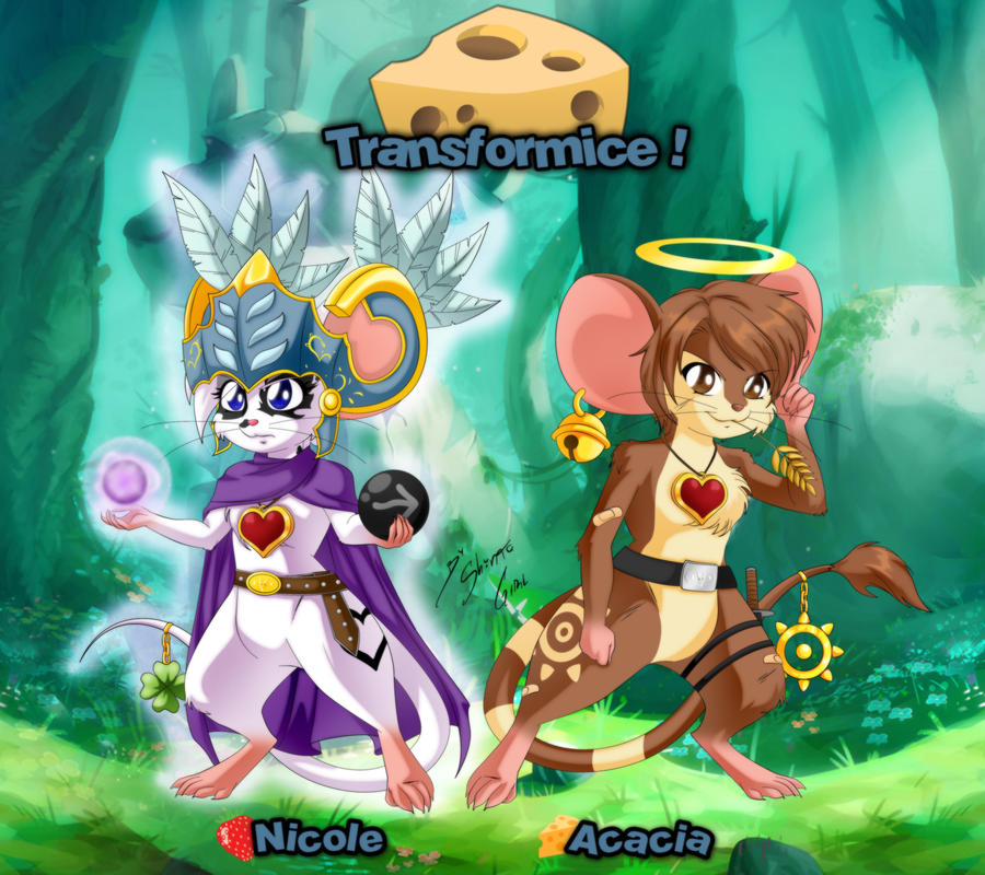 Acacia and Nicole In Transformice