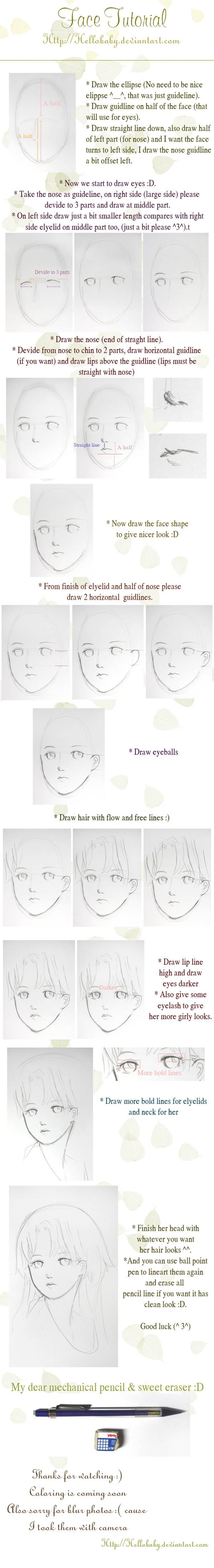 Face tutorial by Hellobaby