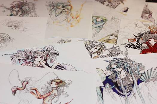 Few drawings