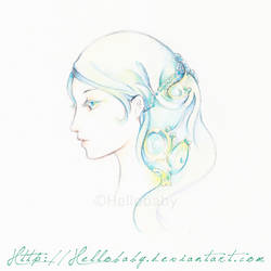 How to Draw a Dreamy Profile with Color Pencils by Hellobaby