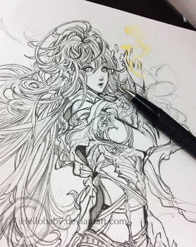A pencil work