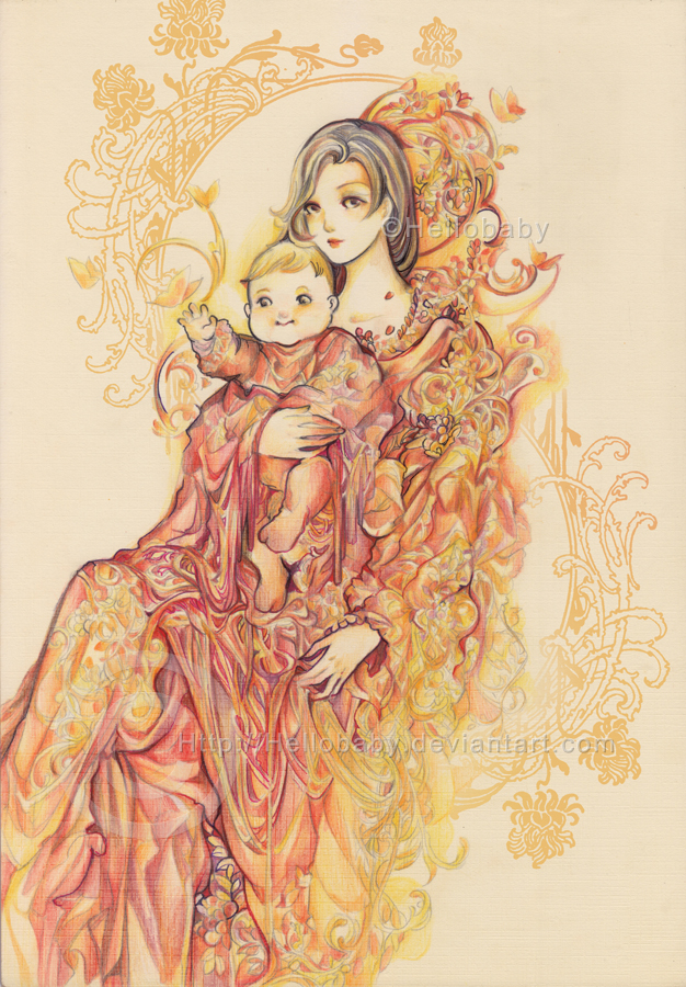 Mother and child by Hellobaby on DeviantArt