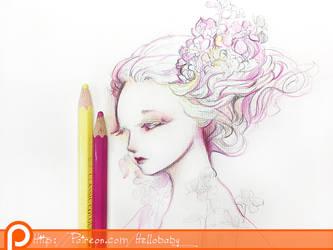 Floral Girl Wallpaper
