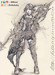 Warrior Lady by Hellobaby