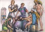 Alexander among the Ephebes by PirraAiren