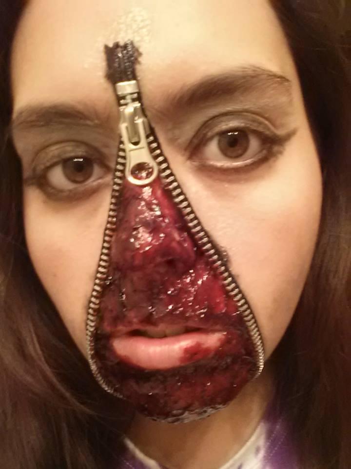 Zipper Face Makeup Zipper Halloween Makeup by