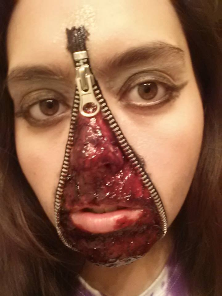 zipper halloween makeup by voradorhylden on DeviantArt
