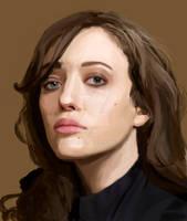Kat Dennings portrait.