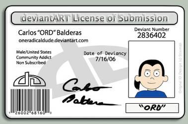 OneRadicalDude DA License by OneRadicalDude