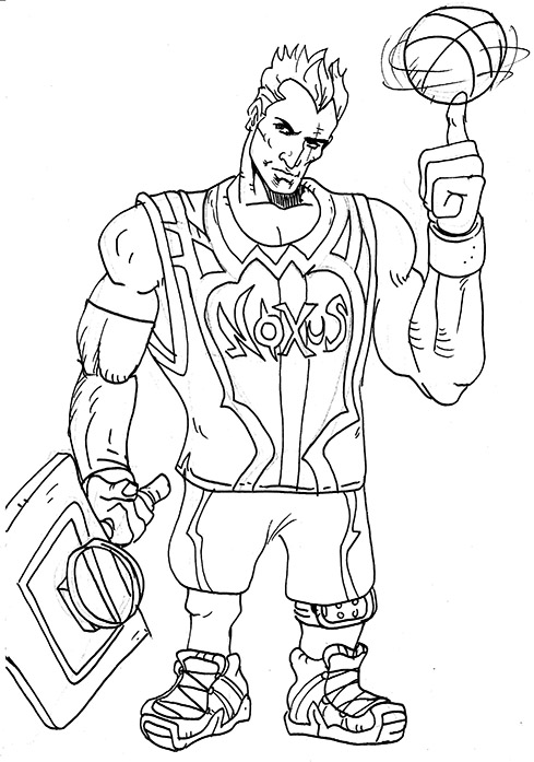 Dunkmaster Darius sketch by filipeG