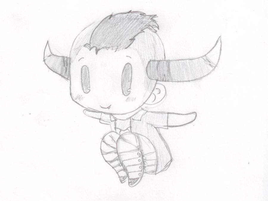 Chibi Tavros Nitram Sketch by Fuzzdufuz