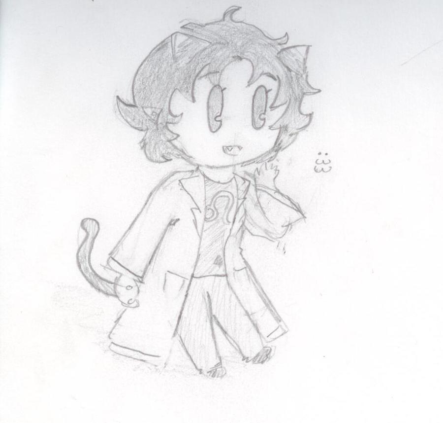 Chibi Nepeta Leijon Sketch by Fuzzdufuz