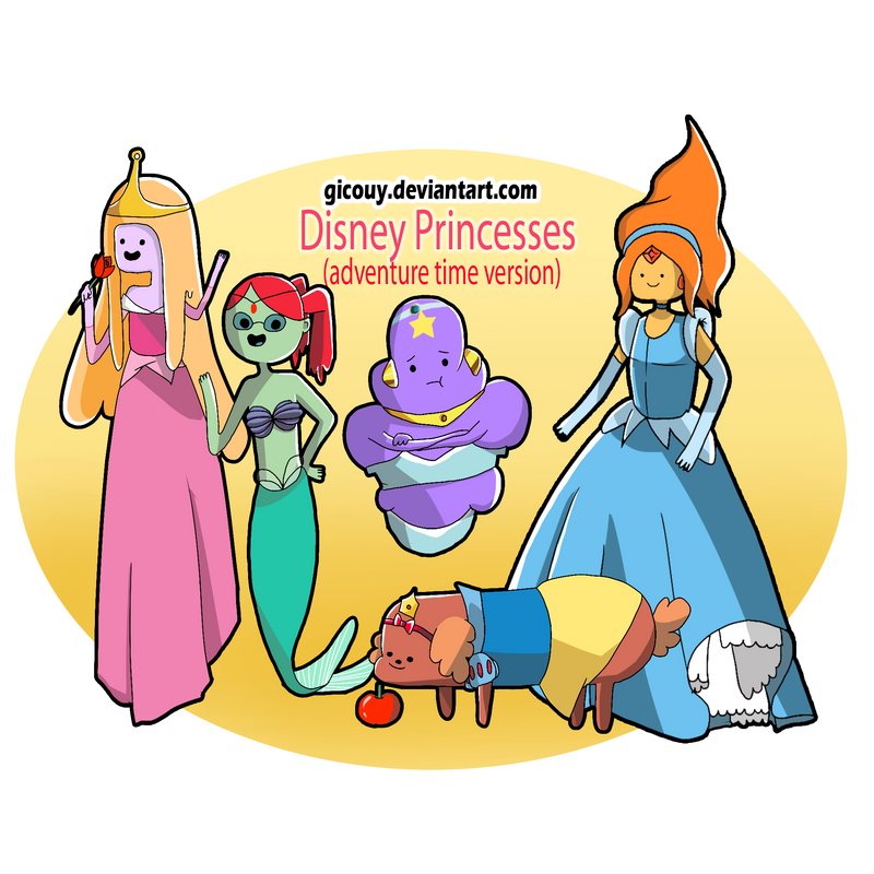 Disney Princess(Adventure Time Version) by gicouy on ...