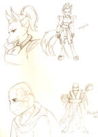 Ninjara and Mei concept art by bugsytrex