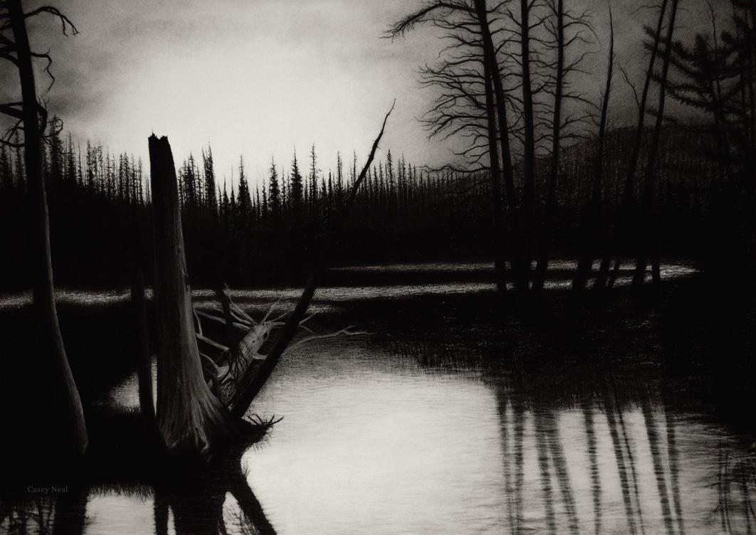 landscape charcoal sketches - photo #2