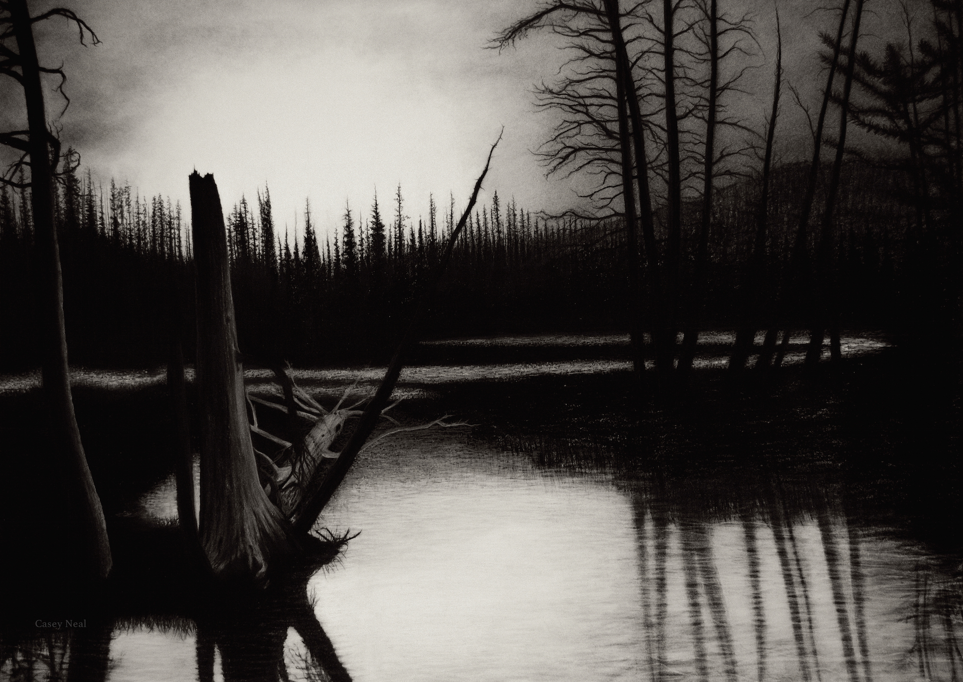 The Main Loop: Charcoal Drawing: A Logical Method (Video ...  |Charcoal Drawings Of Landscapes