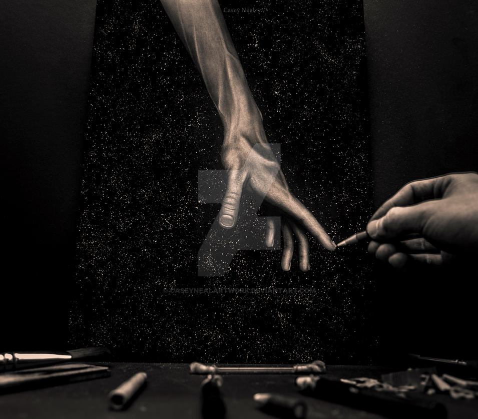 Hand in Space by CaseyNealArtwork