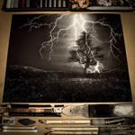 Lightning Storm Charcoal Drawing