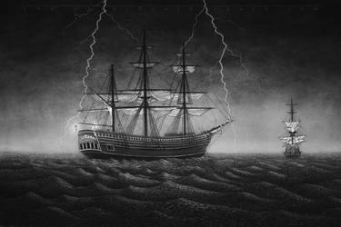 The Charcoal Sea by CaseyNealArtwork