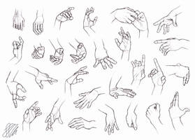 Study's of hands by HIRVIOS