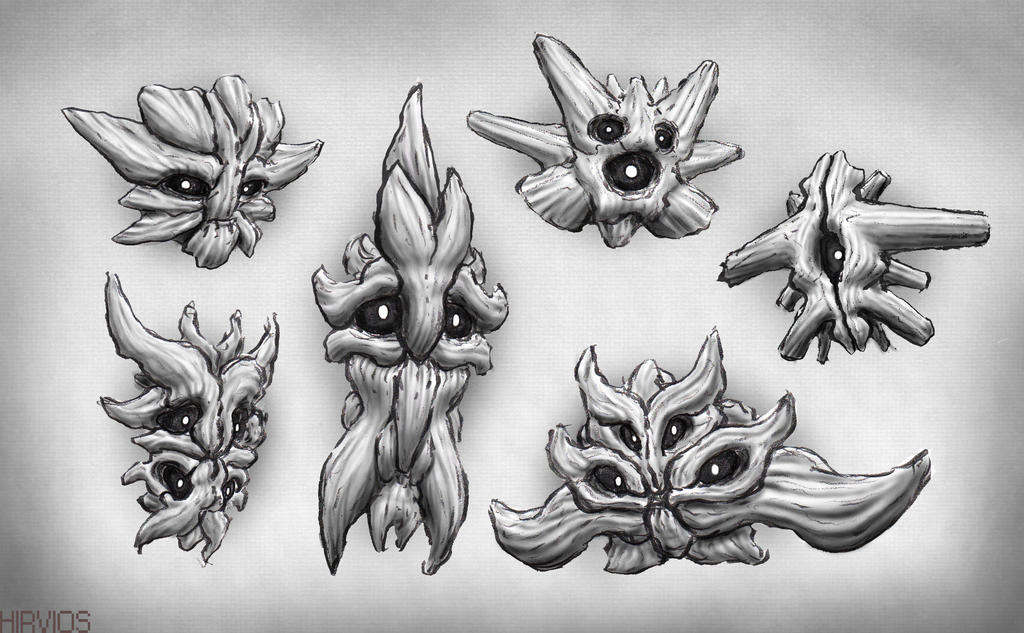 Sketchbook Concepts - ' Bone Mob's ' by HIRVIOS
