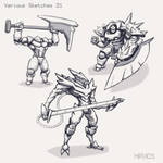 Various Sketches 21 by HIRVIOS