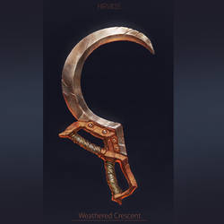 Weapon concept- Weathered Crescent