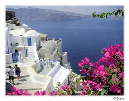 I found my love in Santorini by velvet-eyes