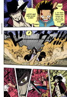 Luffy vs Mihawk one piece 561 by MRTrobin