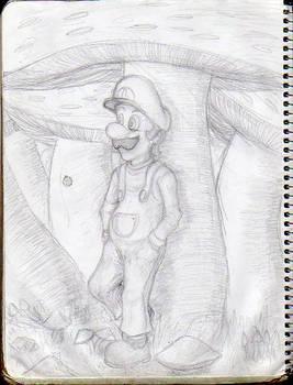 Luigi at Mushrooms