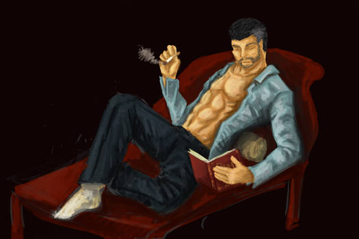 Bernard Relaxing