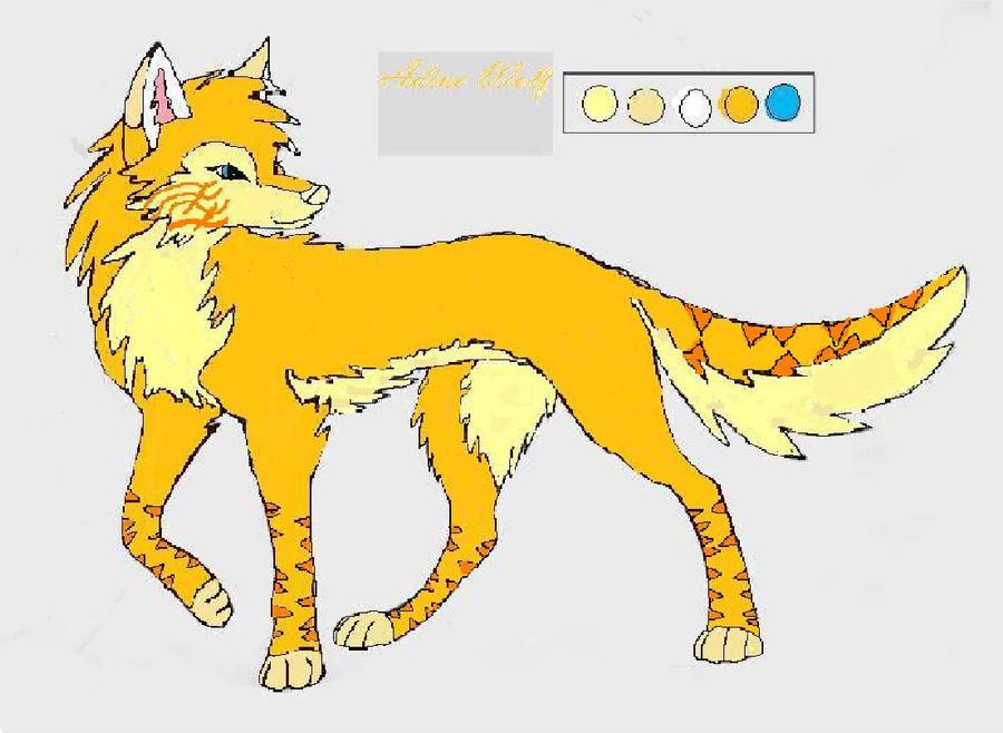 Yellow Anime Wolf Yellow Anime Wolf