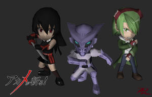 Papercraft Chibis Akame ga Kill ! (In process) by RavaMaster