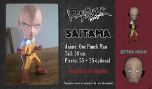 Chibi Papercraft - Saitama (One Punch Man!) by RavaMaster