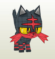 Maybe One Day Poke (Litten Papercraft) by RavaMaster