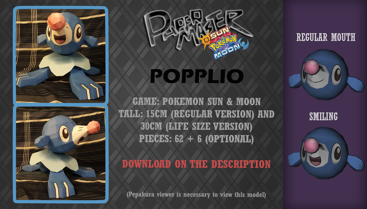 Popplio - Papercraft (DOWNLOAD) by RavaMaster
